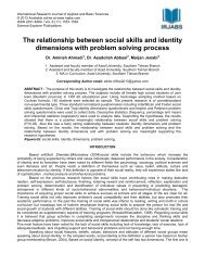 The relationship between social skills and identity ... - irjabs.com