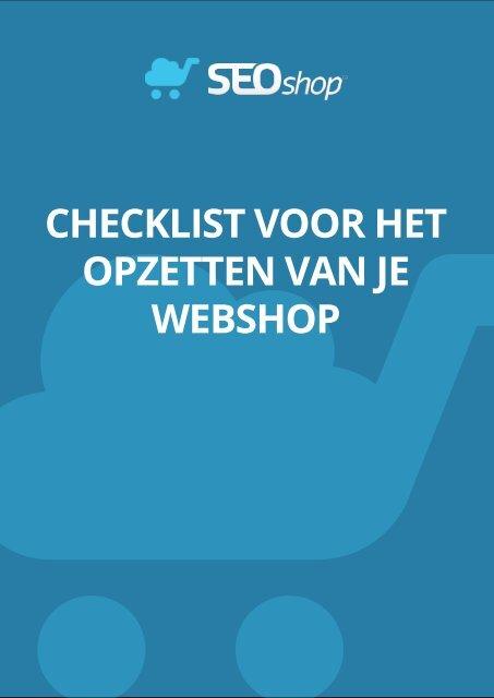 checklist voor het opzetten van je webshop - SEOshop