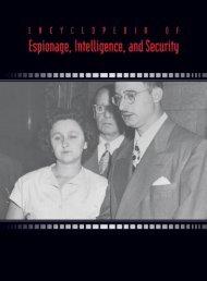 ENCYCLOPEDIA OF Espionage, Intelligence, and Security Volume ...