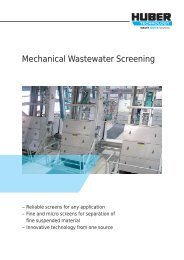 WASTE WATER Solutions - Huber Technology