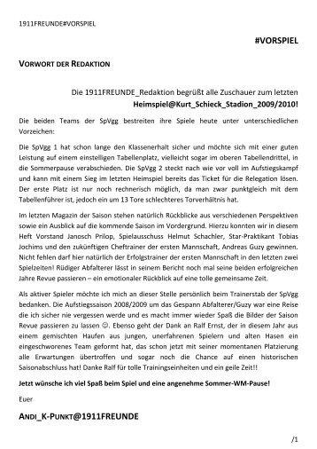 28. SPIELTAG - SpVgg 1911 Neckargemünd e.V.