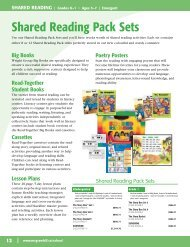 Shared Reading Pack Sets - McGraw-Hill Ryerson