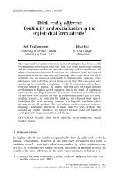 Continuity and specialization in the English dual form ... - Linguistics