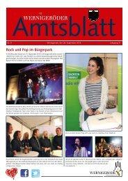 Amtsblatt Stadt Wernigerode 09 - 2013 (3.72 MB)