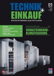 Ausgabe 5 /2013 - technik + EINKAUF