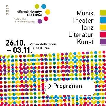 Musik Theater Tanz Literatur Kunst - Käfertaler Kreativakademie