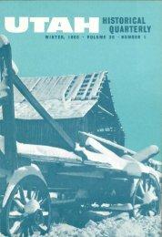 Utah Historical Quarterly (volume 36, number 1, January 1968)