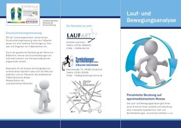 Lauf- und Bewegungsanalyse