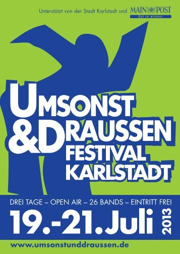 Programmheft - umsonst & draussen · Karlstadt