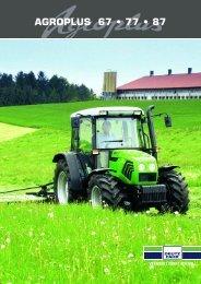 AGROPLUS 67 • 77 • 87 - Deutz Traktoren und Erntetechnik
