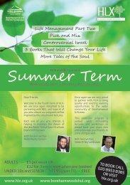 Summer Term - Borehamwood and Elstree Synagogue
