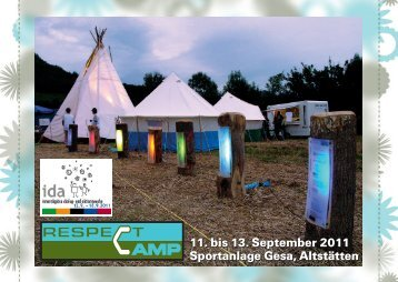 Ansichtskarte Respect Camp - Jugend-altstaetten.ch