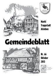 Gemeindeblatt Oktober 2013