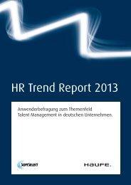 HR Trend Report 2013 - umantis Talent Management