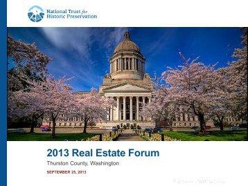 2013 Real Estate Forum – National Trust for Historic Preservation