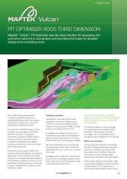 PIt OPtIMIseR adds thIRd dIMensIOn - Maptek