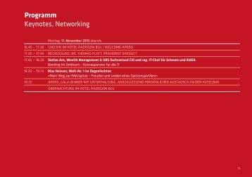 Programm Keynotes, Networking - SwissICT