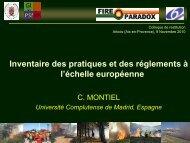 inventaire des pratiques et des règlements à l'échelle européenne