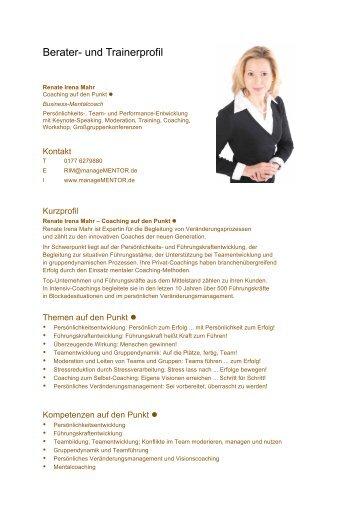 Berater- und Trainerprofil