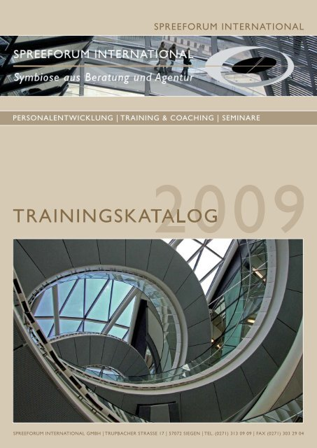 Trainingskatalog A4hoch.indd - Spreeforum International GmbH