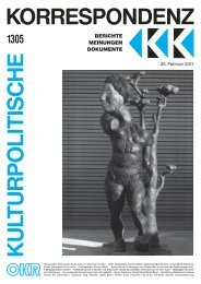 Ausgabe 1305 als PDF zum Download - Kulturportal West Ost