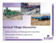 Vertical tillage vs No-till in Kansas