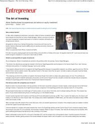 The Art of Investing - Cannon Asset Managers
