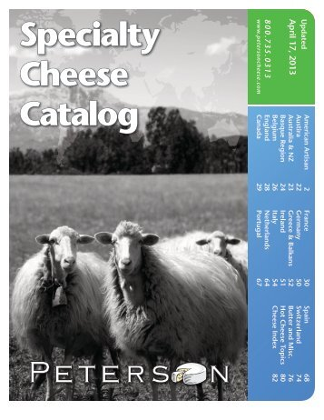 Specialty Cheese Catalog Click to Download - Peterson Cheese