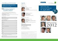 IMPULSTAG 2012 Meet the Experts! - Die Presse