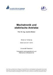 Skript - Fachgebiet Leistungselektronik und Elektrische ...