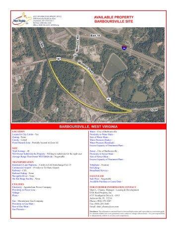 Barboursville Site - West Virginia Department of Commerce