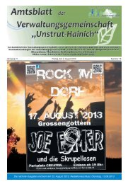 Amtsblatt der Verwaltungsgemeinschaft Unstrut-Hainich