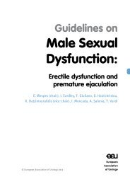 Male Sexual Dysfunction: - European Association of Urology