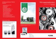 Flyer TPU Laserstrahlsintern - rpm rapid product manufacturing GmbH