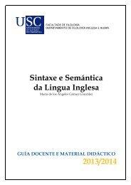 Sintaxe e Semántica da Lingua Inglesa - Universidade de Santiago ...