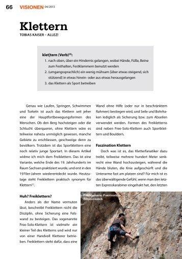 Klettern - Vis