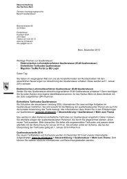 Brief Neuerungen 2014 Quellensteuer an SSL - Kanton Bern