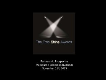 a sponsorship package. - Eros Shine Awards