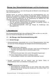Übungs- bzw. Elementwiederholungen und ihre Anerkennung 1 ...