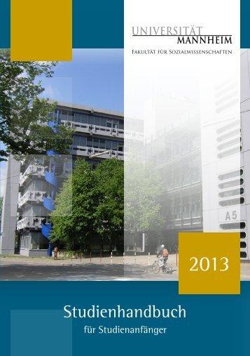 Studienhandbuch für Studienanfänger 2013 - Sowi - Universität ...