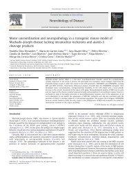 Neurobiol Dis. 2010 Oct, 40(1) 163-76.pdf - Repositório do Hospital ...
