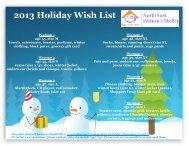 NYWS Wish List 2013