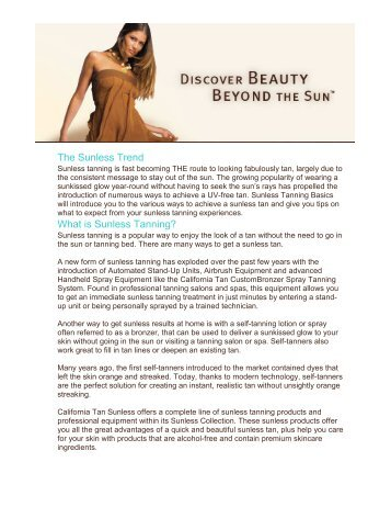 The Sunless Trend What is Sunless Tanning? - Rejuvenations