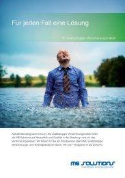 Flyer ME Solutions Makler - Ihr unabhängiger Versicherungsmakler