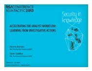 accelerating the analyst workflow: learning from ... - RSA Conference