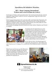 Sprachkurse für behinderte Menschen HLI - Sprachenmarkt.de