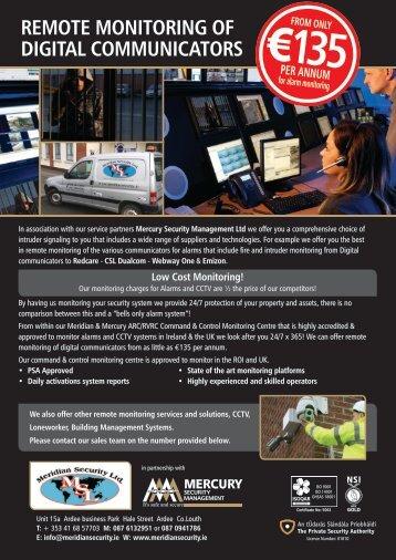 REMOTE MONITORING OF DIGITAL COMMUNICATORS - Dundalk.ie
