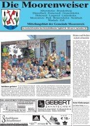 Mitteilungsblatt 03 2011 - Gemeinde Moorenweis