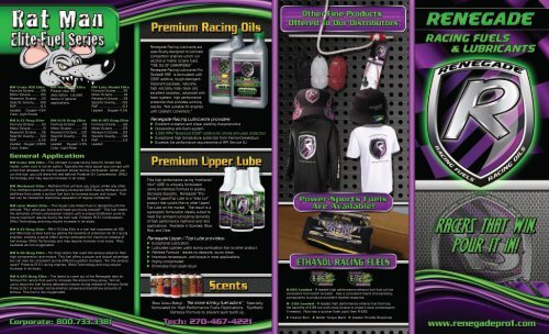 Renegade Race Fuel >> Renegade Fuel Brochure Coleman Oil