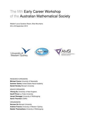 workshop booklet (PDF, 1096.51 KB) - University of Western Sydney